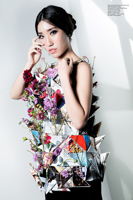 Creative Floral Dress - Kerene Ong